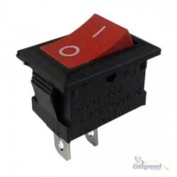 Chave Gangorra 2 Polos Mini Liga On Off Desliga Vermelha